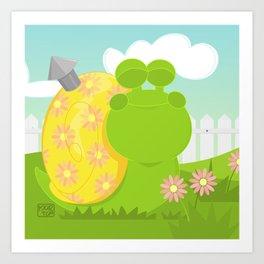 Green Snail (male) Art Print