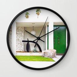 Kelly Green Door Palm Springs Wall Clock