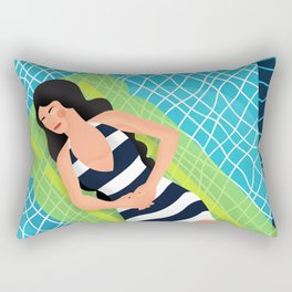 In the pool Rectangular Pillow
