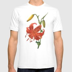 Crimson lily MEDIUM White Mens Fitted Tee