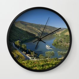 The Douro valley Wall Clock