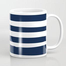 Stripes Nautical Modern Navy and White Coffee Mug