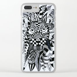 Feather Lion Clear iPhone Case