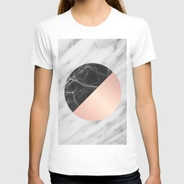 Carrara Italian Marble Black and Pink T-shirt
