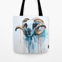 sheep Tote Bags featuring Sheep by Slaveika Aladjova
