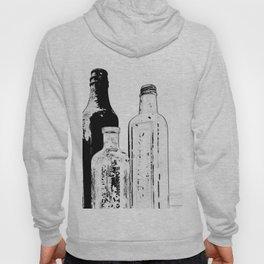 Drawing of Antique Bottles Black & White Hoody