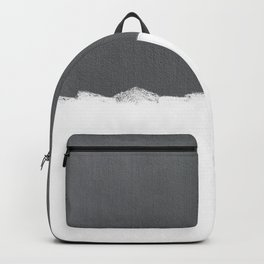 White Paint on Concrete Backpack