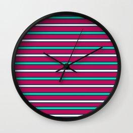 Raspberry stripes Wall Clock