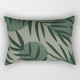 Tropical leaves mid century Rectangular Pillow