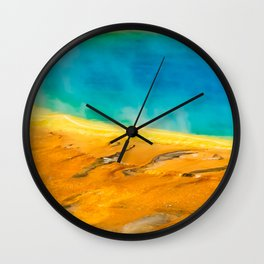 Grand Prismatic Geyser Yellowstone Nature Print Wall Clock