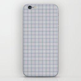 Mauve Blue Grid Checks II iPhone Skin