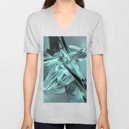 Turquoise Reflections Unisex V-Neck