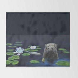 The River Otter by Teresa Thompson Throw Blanket