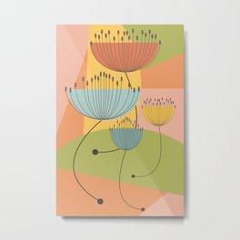 Floral geometry Metal Print