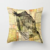 lotus flower Throw Pillows featuring Lotus by Aloke Design