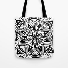 Mandala - Black Tote Bag