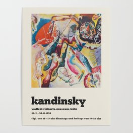 Wassily Kandinsky - Exhibition poster Poster