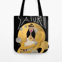 saturn Tote Bags featuring Saturn by Jessika
