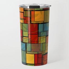 Stained Glass Geometric Pattern Travel Mug