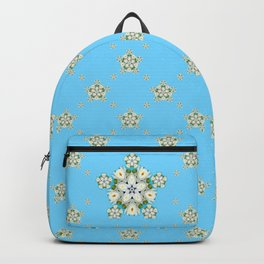 Waterlily Snowflake Pattern Backpack