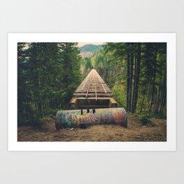 Vance Creek Bridge Art Print