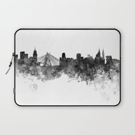 Sao Paulo skyline in black watercolor on white background Laptop Sleeve