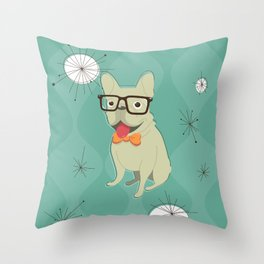 Frank the Frenchie Throw Pillow