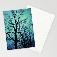 Blue Winter Trees Stationery Cards