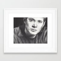 winchester Framed Art Prints featuring Dean Winchester by Kristy Fleming