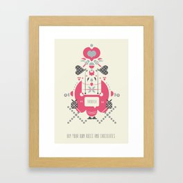 Anti Valentines - Fatbitch Framed Art Print