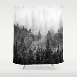 The Visionary Echo BW #society6 Shower Curtain