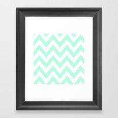 MINT CHEVRON Framed Art Print