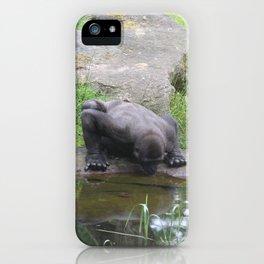 Gorilla Drinking Water iPhone Case