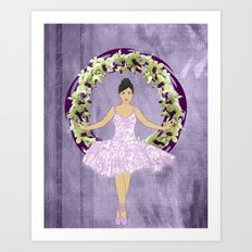 Ballerina Orchid Wreath Art Print