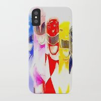 power rangers iPhone & iPod Cases featuring Power Rangers by americanmikey