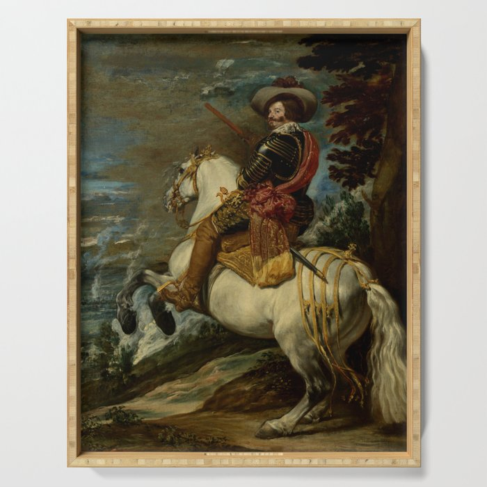 """Diego Velázquez """"Don Gaspar de Guzmán (1587–1645), Count-Duke of Olivares"""" Serving Tray"""