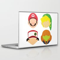 nintendo Laptop & iPad Skins featuring Nintendo Greats by MoleFole