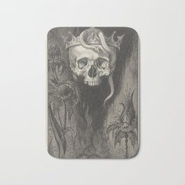 Skull Crowned with Snakes and Flowers, The Duchess of Malfi Bath Mat