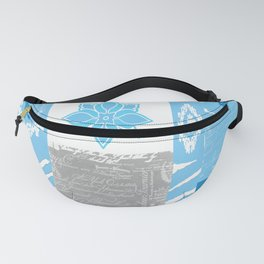 ANIMAL PRINT ZEBRA MULTI BLUE AND WHITE Fanny Pack