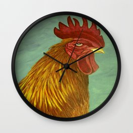 Rooster portrait Wall Clock
