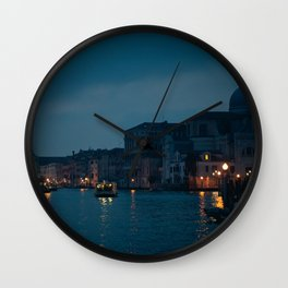 Venice, Italy At Night Wall Clock