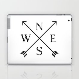 Black and White Compass Laptop & iPad Skin
