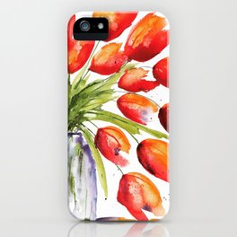 Tulips Overflowing iPhone Case