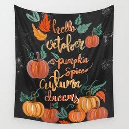Hello October Wall Tapestry
