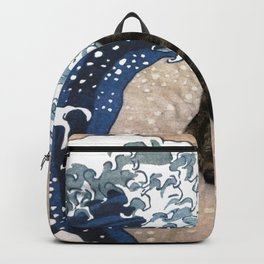 Cat and wave Backpack