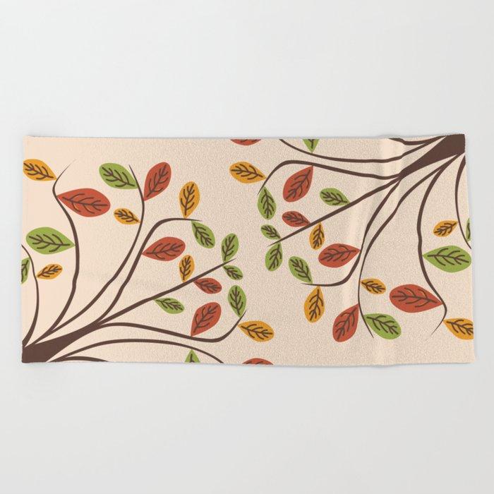 Autumn Trees Beach Towel