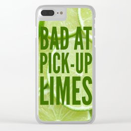 Pick Up Limes Clear iPhone Case