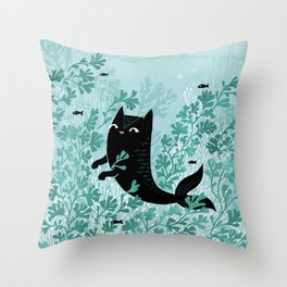 Undersea (Mint Remix) Throw Pillow