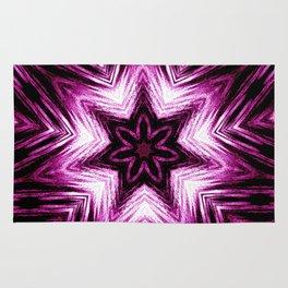 Bright Dark Violet Wine Red Abstract Blossom #purple #kaleidoscope Rug