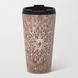 Chic Watercolor Beige Mandala Travel Mug
